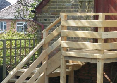 Exterior Oak Staircase